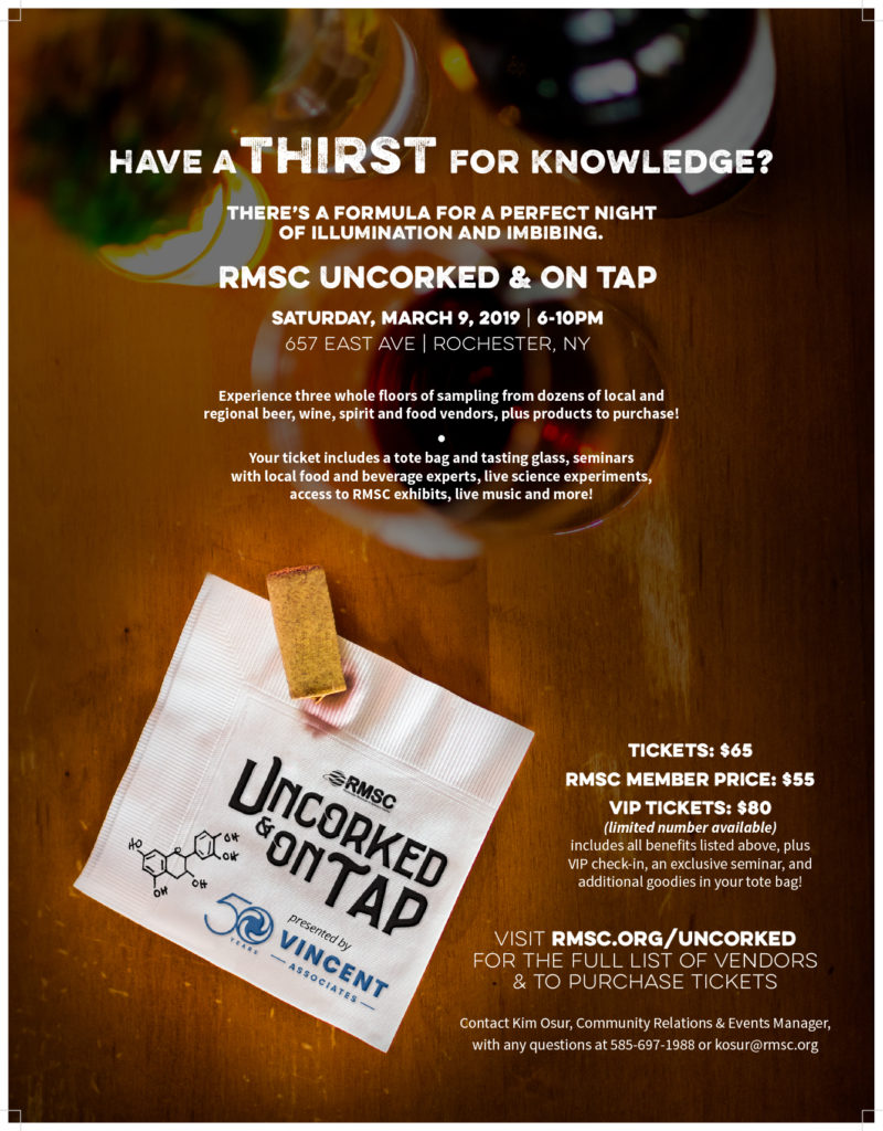 RMSC Uncorked & On Tap @ Rochester Museum & Science Center