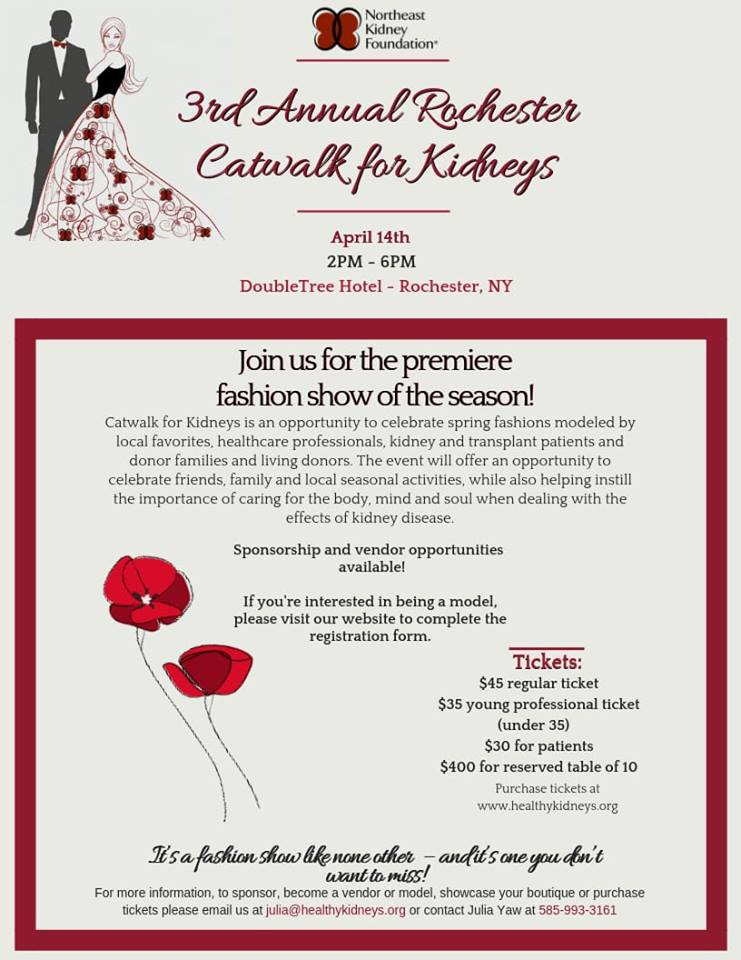 3rd Annual Catwalk for Kidneys @ Doubletree Inn Rochester