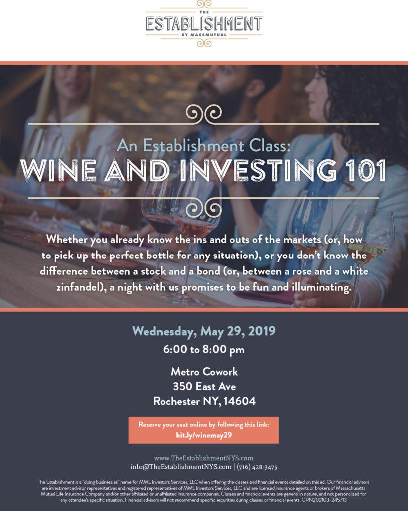 Wine & Investing 101 @ Metro Cowork